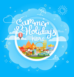 summer travel concept vacation travelling summer vector image