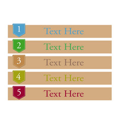tag 1-5 numbers vector image