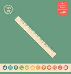the long ruler icon vector image