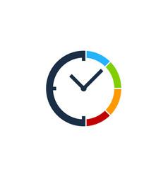 Time logo icon design vector