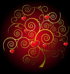 valentine gold tree vector image vector image