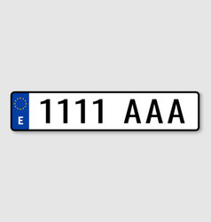 Vehicle registration plates vector
