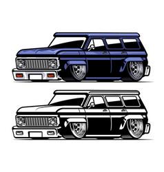 vintage american low truck vector image
