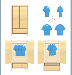 wardrobe with shirt vector image