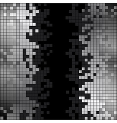 Abstract background with black and white pixels vector image