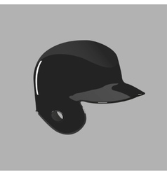 Baseball helmet on a gray background vector image