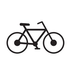 bicycle transport sport recreational pictogram vector image vector image