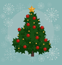 christmas tree flat vector image