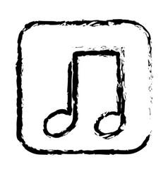 contour symbol play music icon vector image