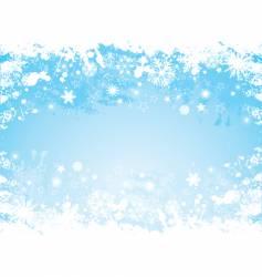 grunge snowflake border vector image vector image