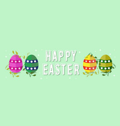 happy easter spring banner design for celebration vector image vector image
