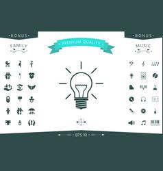 light bulb - new ideas vector image
