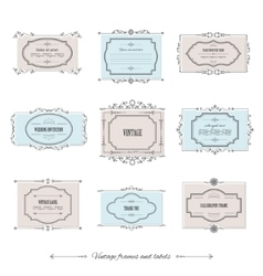 Vintage frames set isolated on white vector image vector image