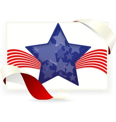 American flag for Business cards with ribbon vector image