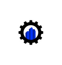 city gear logo vector image vector image