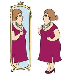 Fat lady vector