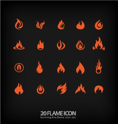 Flame icons 2 vector image