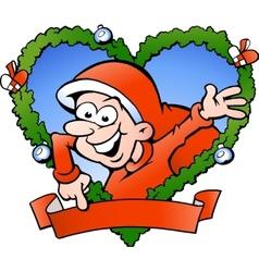 Hand-drawn of an happy santa boy vector image vector image