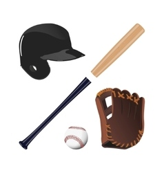 Items for baseball vector image vector image