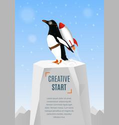 Creative start and creative idea concept poster vector image vector image