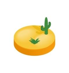 Desert isometric 3d icon vector image