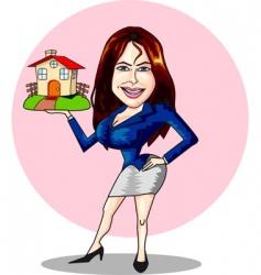 estate agent vector image vector image