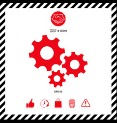 gears wheel - settings icon vector image