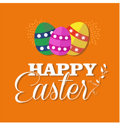 happy easter greeting card for spring holiday vector image vector image