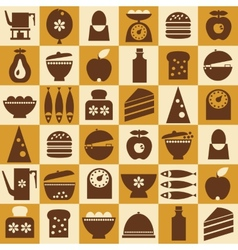 Brown kitchenware seamless vector image