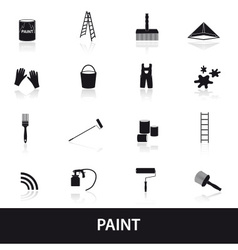 paint icons set eps10 vector image vector image