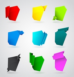 Set of origami paper banners vector image vector image