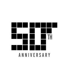 50 th anniversary pixel model template design vector