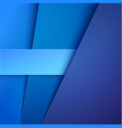 Abstract background with blue paper layers vector image