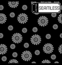 Abstract seamless white pattern with swirls on vector