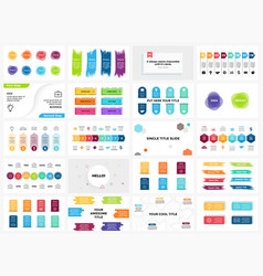 banners infographic templates set arrows vector image