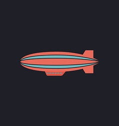 blimp computer symbol vector image