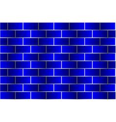 blue bricks - pattern vector image