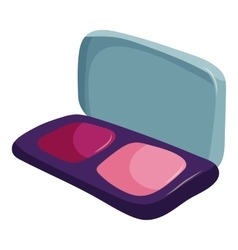 Blusher icon cartoon style vector