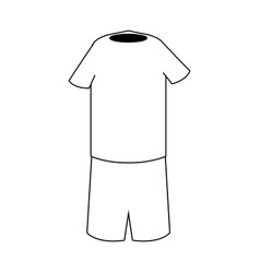 Boy outfit icon cartoon isolated black and white vector