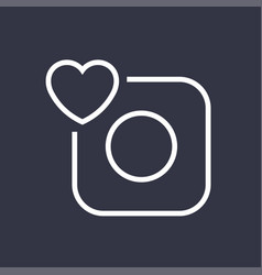 camera icon camera and heart editable vector image