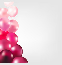 Card with pink color balloons vector
