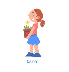 Carry word verb expressing action vector