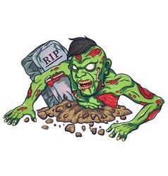 Cartoon mascot zombie terrible design vector
