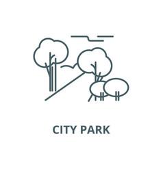 city park line icon city park outline vector image