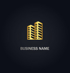 Cityscape building logo vector