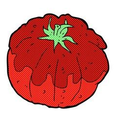 comic cartoon tomato vector image