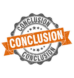 Conclusion stamp sign seal vector