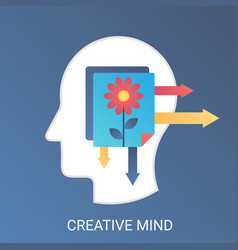 creative mind concept modern gradient flat vector image