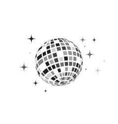 disco ball icon vector image