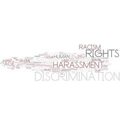 discrimination word cloud concept vector image